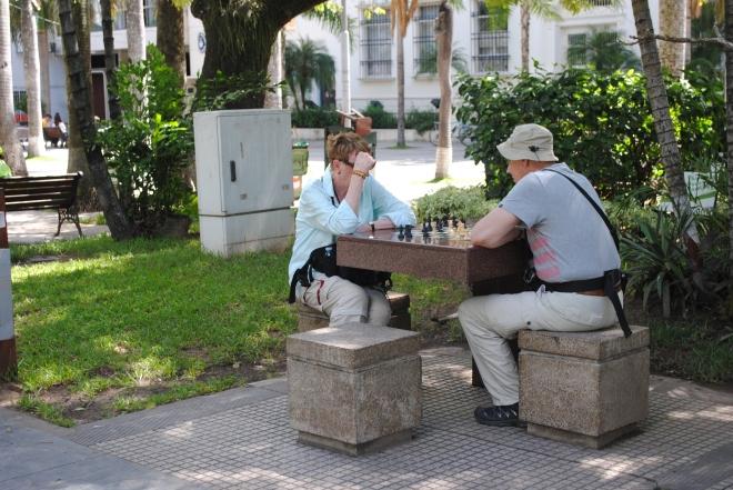Schackspel på gång
