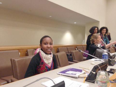 Hope, ungdomsdeltagare från Kenya