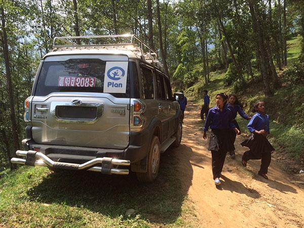 Plan-teamets bil i Nepal