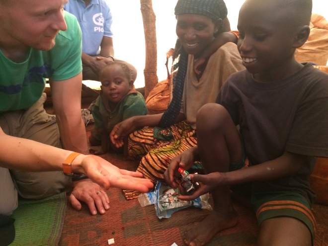 Barn i flyktingläger i Tanzania