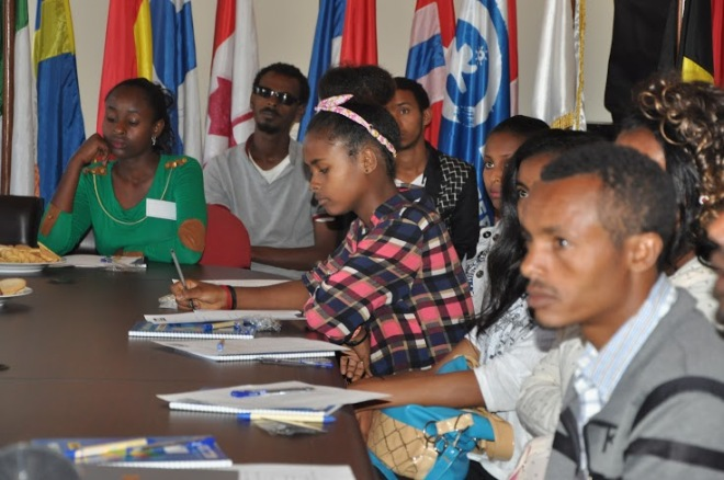 Ungdomar i Plan International Etiopiens National Youth Advisory Comittee