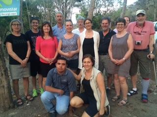 Gruppen med Elizer (längst ner på bilden).