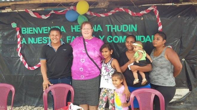 Först ut att träffa sitt fadderbarn var Helena. Det blev ett väldigt lyckat besök.