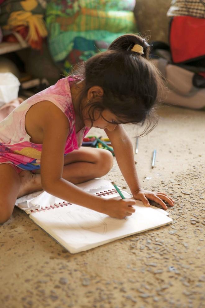 Kreativiteten och lekfullheten som finns hos barn får inte försvinna i en katastrof.